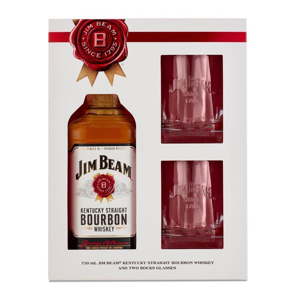 Jim Beam Bourbon Gift Set 750ml