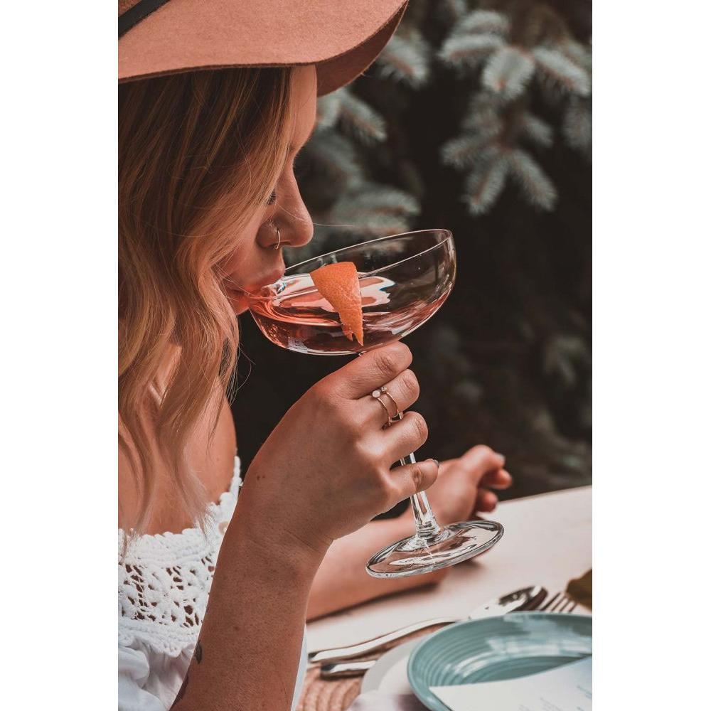Girl Drinking White Zinfandel