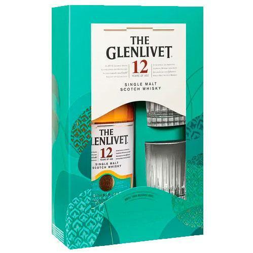 The Glenlivet Single Malt Scotch 12Yr w/2 Glasses Pack